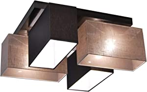 Plafoniera, illuminazione a soffitto in legno massiccio JLS4126D illuminazione per salotto, per cucina, per sala da pranzo, per soggiorno