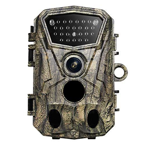 WYW Cámaras de Caza 25MP,Disparo 0.6s Nocturna,1080P Velocidad de Disparo,Impermeable Cámara de Fototrampeo,con Visión Nocturna Impermeable IP66
