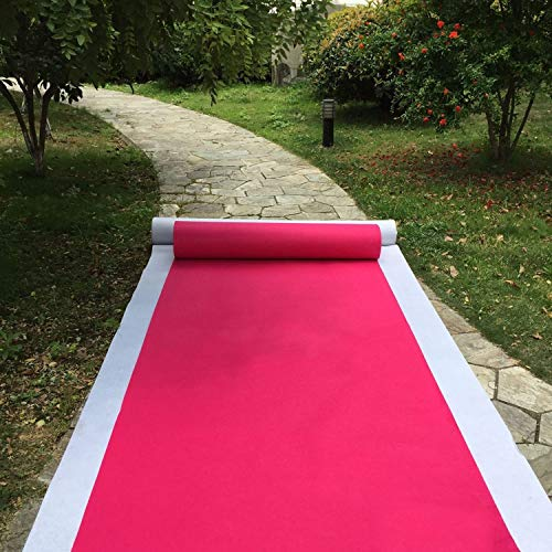 Hollywood Roter Teppich Läufer Oscars VIP Thema Hochzeit Floor Runner Event Bühne Ausstellung Eröffnung Feier Party Gang Dekoration Heavy Duty Carpet Runner ( Color : Rose red , Size : 1.2M*50M )