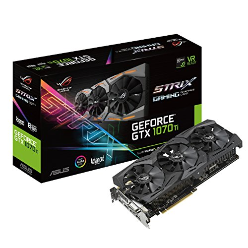 Asus Geforce GTX 1070 TI ROG Strix A8G Gaming GeForce GTX1070 Carte Graphique 8192 Mo