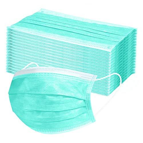 Lulupi 100 Stück Einweg Mundschutz,3 lagig Mund-Nasen-Schutz,Einfarbig Multifunktionstuch Bandana Staubdicht Atmungsaktiv Mund-Nasen Bedeckung Halstuch Schals für Erwachsene