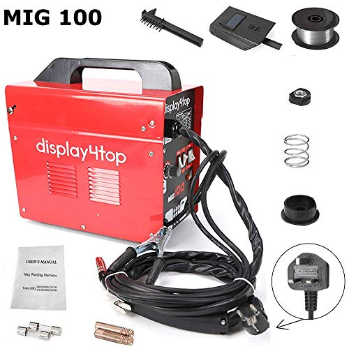 Display4top Soldador hilo continuo sin gas MIG 100 230V Máquina de Soldadora Aparato...