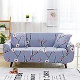 WXQY Funda de sofá Moderna Resistente al Desgaste de Estilo nórdico clásico Estampado Azul Lago elástico Todo Incluido Funda de sofá Antideslizante A6 3 plazas