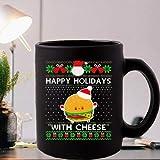 N\A Felices Fiestas con Queso Santa Burger Ugly Christmas Coffee Mugs
