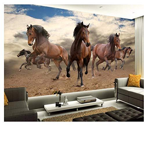 Lovemq Benutzerdefinierte Tapete Nach Hause Dekorative Wandbild 3D Stereo Pionier Pepsi Pferd Rahmen Tv Wandbild 3D Tapete-350X230Cm