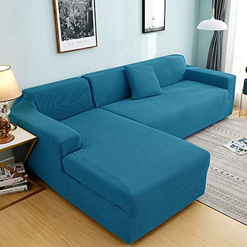 Plush soffa täcker för vardagsrum sammet elastisk hörn sektion soffa kärlek säte täcker fåtölj l-formade möbler slipcover för vardagsrum husdjur,Blue,3seaters190~230cm
