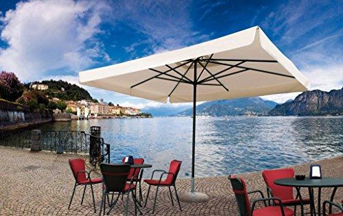 Parasol - Napoli Rectangle 3x4m Acrylique Dralon 350g/m2 Blanc A7 Sans volants