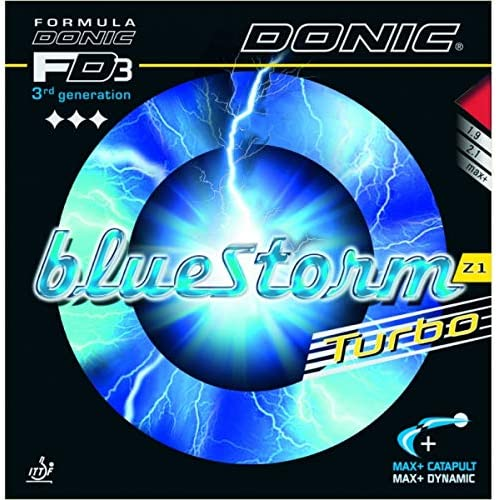 Donic San Francisco Mall Bluestorm Z1 Turbo Table Outstanding Max Tennis Rubber Red