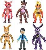 Set of 6 pcs FNAF Building Blocks Toys, 6-7 Inch Five Nights FNAF Pizzeria Simulator Action Figure Toys Gift Set
