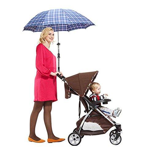 YHSHOU Chariots bébé Portable Panier Parapluie Stent ne Plus Avoir Peur du Soleil (S'applique à des Images comme des Chariots), Black
