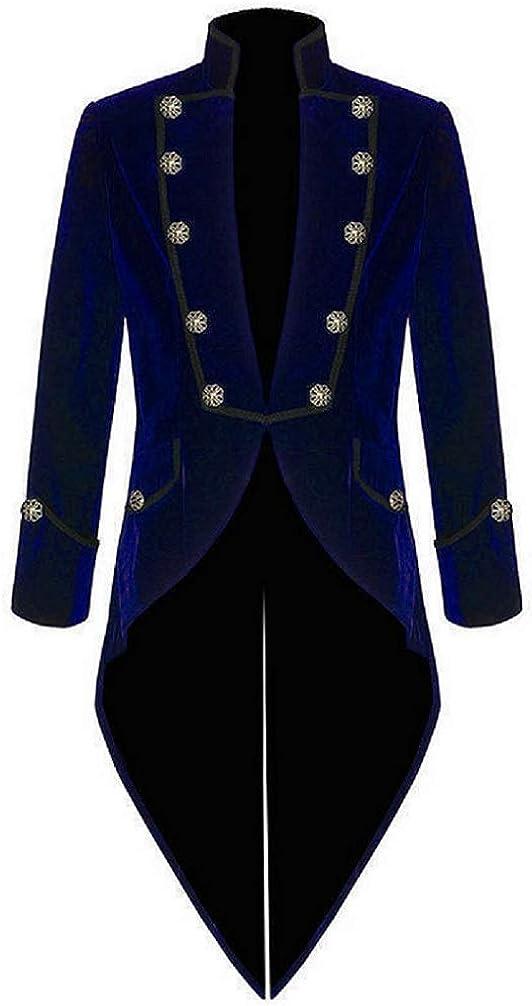 Prime Quality Mens Steampunk EMO V お洒落 Gothic Jacket Velvet Tailcoat セール商品