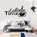 stickers muraux 3d vendre comme des petits pains Café Temps Cuisine Citation Décalque Décoration de la maison