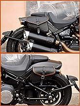 Leder SATTELTASCHEN RECHTE&Linke FÜR Harley Davidson SOFTAIL 2018-2020 Fat BOB, Low Rider S, Street BOB, Slim, Low RIDERENDSCUOIO Leder (ORANGE STICHE)