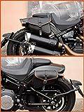 ALFORJAS Bolsos DE Cuero Laterales Izquierdo Y Derecho para Harley Davidson SOFTAIL 2018-2020 Fat Bob, Low Rider S, Street Bob, Slim, Low Rider Made IN Italy ENDSCUOIO (Costura Naranja)