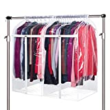 Zilink Clear Garment Bags for Storage 40 inch (2 Pack) Dust-Proof Hanging Garment Rack Cover Suit Bags Organizer Hanging Clothes Cover for Suit Coats Jackets Dress Storage