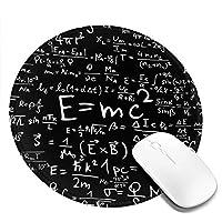 丸型マウスパッド ゲーミングマウスパッド 数学式プリント おしゃれ オフィス自宅兼用 滑り止めゴム底 耐洗い表面 厚地 精密度アップ 光学式マウス対応 20*20cm 厚さ3mm
