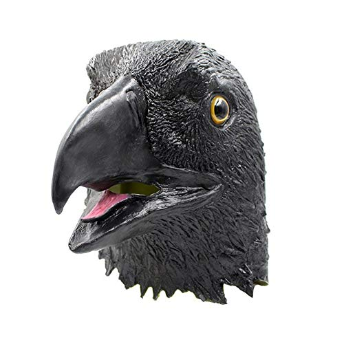 LSGNB Máscara De Águila Alza Demasiado Águila En Blanco Barra De Máscara Complicada COS Mascarada ( Color : Black )