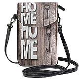 Letras de madera Home Deco Key Boards teléfono celular monedero monedero para mujeres niña pequeño Crossbody bolso bolsos