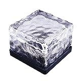 LEDMOMO adoquinado solar LED, piedra de construcción de cristal, luz solar, impermeable,...
