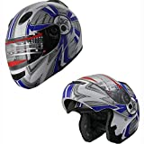 X4 Motorcycle Helmet Adult DOT Modular Flip up Full Face Sports Bike Snowmobile...