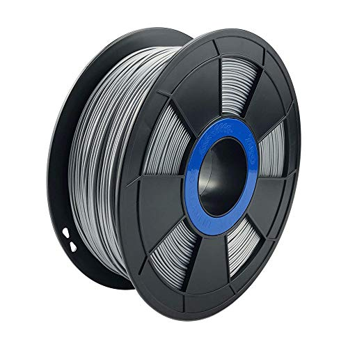 ZIRO 3D Printer Filament PLA PRO Metal Series 1.75 1KG(2.2lbs), Dimensional Accuracy +/- 0.03mm,Silver