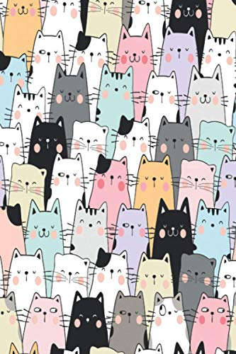 Cat Notebook: Cute Cat Journal Composition Notebook (120 pages 6x9in), Funny & Cute Kawaii Kitty Cat Gift for Cat Lovers: Girls, Daughter, Granddaughter, Teens, Niece