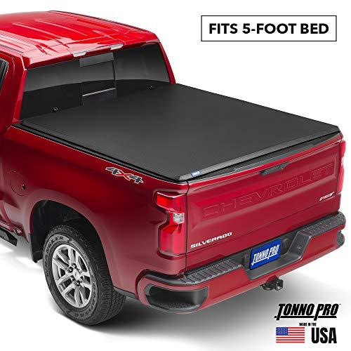 Tonno Pro Hard Fold, Hard Folding Truck Bed Tonneau Cover | HF-551 | Fits 2005-2015 Toyota Tacoma 5' Bed