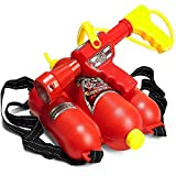 Prextex Fireman Backpack Water Shooter and Blaster - Water Gun Beach Toy and Outdoor Sports Toy…