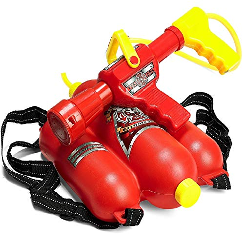 Prextex Fireman Backpack Water Shooter and Blaster - Water Gun Beach Toy and Outdoor Sports Toy