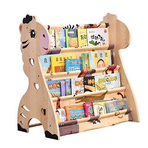 Librero Estantería para Libros estante de libros económica alumnos de jardín de infantes de dibujos animados estantería de madera maciza Estantería baja de los niños simples Creativo ( tamaño : B )