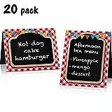 20 Stücke Picknick Party Tafel Zelt Karten BBQ Thema Doppelseitige Mini Tafel für Hochzeit Picknick Geburtstag Party