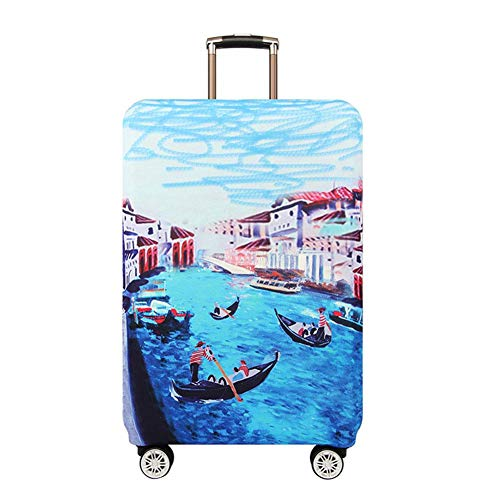 Big Save! Vaskey Elastic Washable Luggage Protector Case Suitcase Protective Cover with Zipper Fits ...