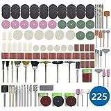 HUANGYUZHENZHI サンディング研磨研削工具225pcs研磨工具セットのためのドレメルロータリーツールアクセサリー切削 (Color : 225pcs Set)