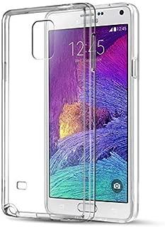 Samsung Galaxy Note 4 Kılıf Kapak Lazer Kesim 0.2 mm Ultra İnce Şeffaf Silikon