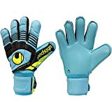 Uhlsport - Guantes de Portero Eliminator Supersoft, talla 9'5, color azul/negro/amarillo