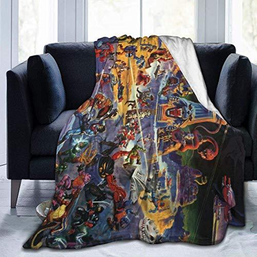 Kuscheldecke Decken Tagesdecken Bettdecken He-Man Masters Universe Warm Fleece Throw Blanket Super Soft Lightweight for Couch Bed Sofa 125cmX100cm
