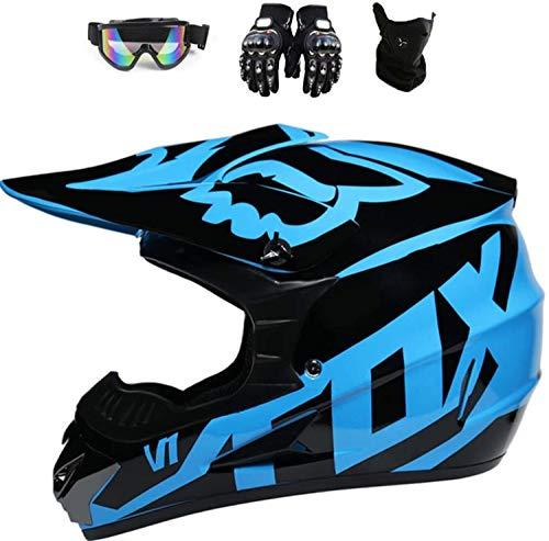 WAJY Casco de motocross, casco infantil de moto, casco ATV, unisex, casco de protección ATV, para hombres y mujeres, protección de seguridad (XL (59-60 cm)