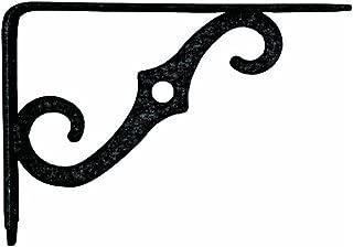 National Mfg. N229393 Ornamental Shelf Bracket 5-Inch x 3-1/2 Inch, Antique Black