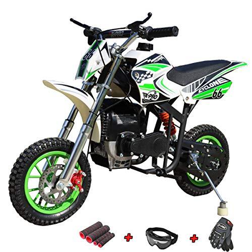 X-PRO Cyclone 40cc Kids Dirt Bike Mini Pit Bike Dirt Bikes Motorcycle Gas Power Bike Off Road (Green)