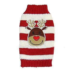 LAAT Vêtements de Noël Motif Elk Veste Gilet pour Chien Manteau Habit Chiot Vêtements Pour Les Petites et Moyennes Chien en Noël