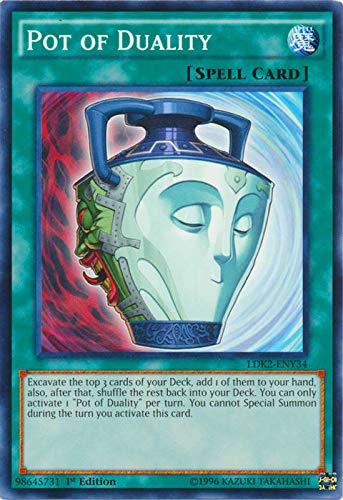 YU-GI-OH! - Pot of Duality (LDK2-ENY34) - Legendary Decks II - 1st Edition - Common