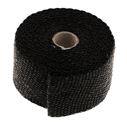 D DOLITY Selbstklebend Auspuffband Schwarz Thermoband Hitzebeständig - schwarz