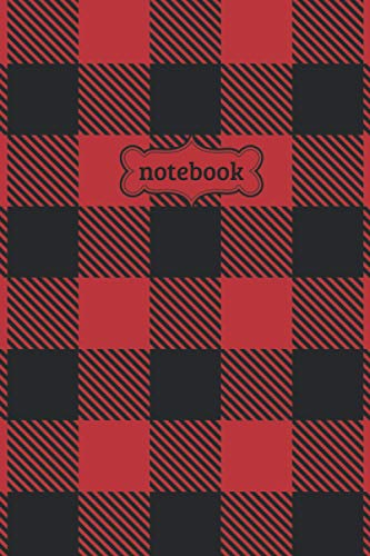 Notebook: Red Black Buffalo Check Plaid Flannel Lumberjack Pattern Journal - Lined Journal & Diary for Writing Taking Notes (6