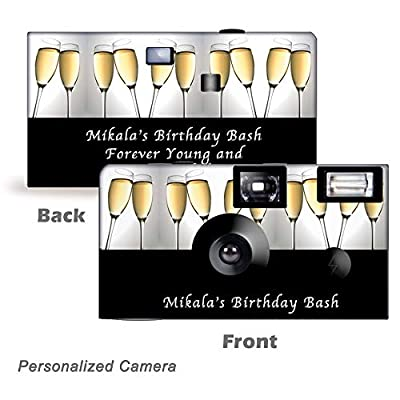5 Toast of The Town Disposable Camera, Wedding, Party, Holiday, New Year's Eve by CustomCameraCollection