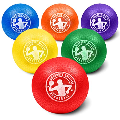 GoSports 7' Inflatable Dodgeball 6 Pack - No Sting Balls - Includes Ball Pump & Mesh Bag