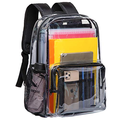 Vorspack Clear Backpack Heavy Duty PVC Transparent Backpack with Reinforced Strap & Large Capacity...