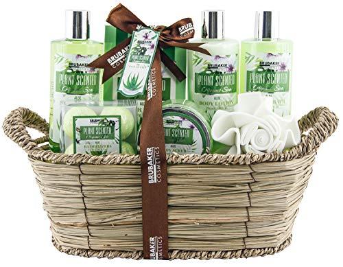 BRUBAKER Cosmetics Set de Baño y Ducha Aloe Vera - Juego de regalo de 11 piezas...