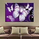 RTCKF Leinwand Malerei Hd Print Art Schmetterling Wand Dekoration Wohnzimmer Poster Bild Wand A2 40x50 cm
