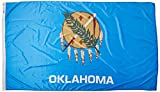 Annin Flagmakers Model 144380 Oklahoma Flag Nylon SolarGuard NYL-Glo, 5x8 ft, 100% Made in USA to Official State Design Specifications