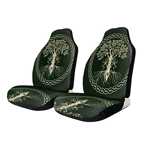 TPOKIM Car Seat Protector Covers Celtic Ritual Norse Nordic Viking Goddess Wiccan Front Car Seats Cover Cushion Only Universal Fit for Most Cars Truck SUV Van